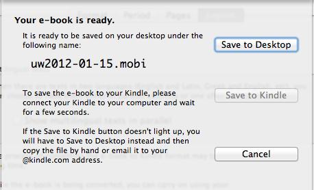 Kindle on the Mac: 2
